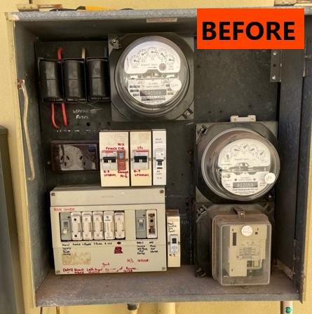 Switchboard with fuses in the Sutherland Shire ready for upgrade